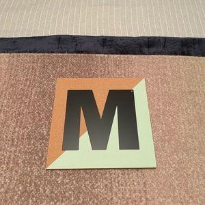 Land of Nod Colorblock Corkboard Letter - M
